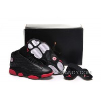 """Free Shipping Girls Air Jordan 13 """"Gym Red"""" Black/Gym Red-Black Shoes For Sale"""