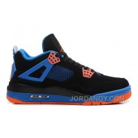 "New Air Jordan 4 Retro ""Cavs"" Black/Orange Blaze-Old Royal Hot Now"