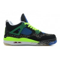 "New Air Jordan 4 Retro Doernbecher ""Superman"" Black/Old Royal-Electric Green-White Discount"