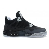 "New Air Jordan 4 Retro ""Fear"" Black/White-Cool Grey-Pure Platinum Authentic"