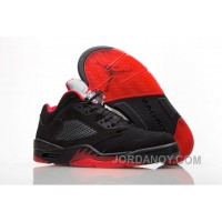 "2017 Air Jordan 5 Low ""Alternate '90"" Black/Gym Red-Metallic Hematite Online"