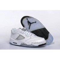 Top Deals 2016 Air Jordan 5 Low GS White/Black-Wolf Grey For Sale