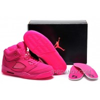 Cheap To Buy Girls Air Jordan 5 All-Pink Shoes For Sale Online