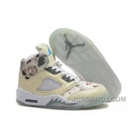 For Sale Girls Air Jordan 5 Beige Cherry Blossom