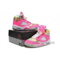 Super Deals Girls Air Jordan 5 Pink Cherry Blossom For Sale