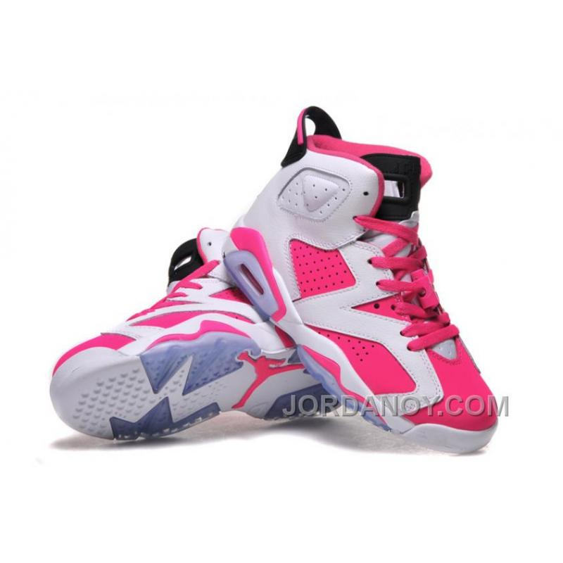 2015 Air Jordan 6 GS White Pink Shoes For Sale
