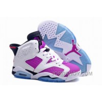 "Christmas Deals Girls Air Jordan 6 Retro ""Bright Grape"" For Sale"