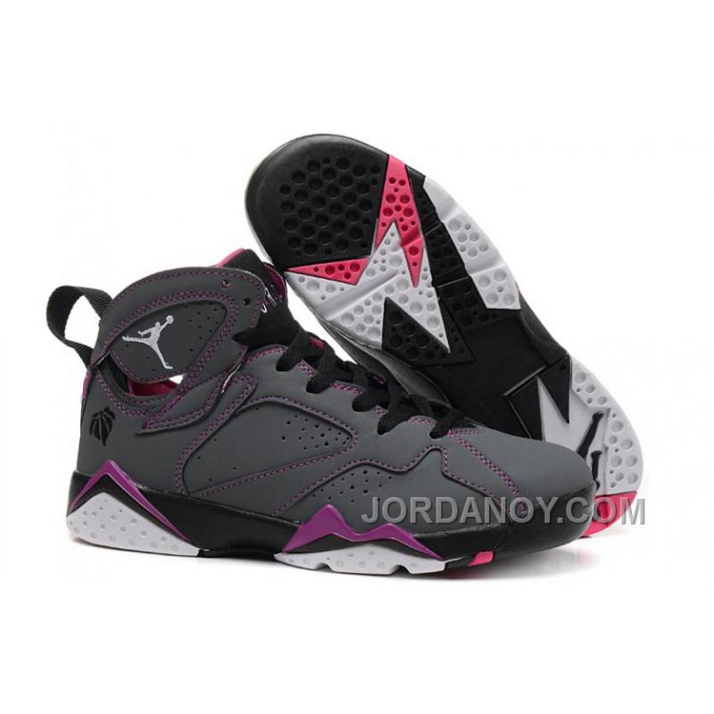 "timeless design 69a68 1b362 Cheap To Buy Girls Air Jordan 7 ""Valentines Day"" Dark  Grey/White-Black-Fuchsia Flash Sale"