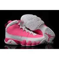 Authentic Girls Air Jordan 9 Pink White Shoes For Sale