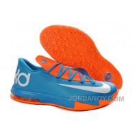 Online Girls Nike KD 6 Blue Orange White For Sale