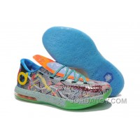 "Discount Girls Nike KD 6 ""What The KD"" Hoop Purple/Urgent Orange-Shark For Sale"