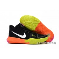 Girls Nike Kyrie 3 Black Colorful Volt Orange Pink Top Deals