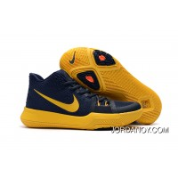 "Girls Nike Kyrie 3 ""Cavs"" Deep Blue Yellow Copuon Code"