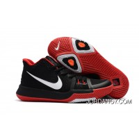 Girls Nike Kyrie 3 Black Red White Lastest