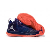 New Jordan Super.Fly 5 X Purple/Orange Free Shipping