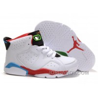 Kid Air Jordan 6 Retro White Red Blue Discount