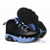 Kids Air Jordan 9 Black Blue New Release