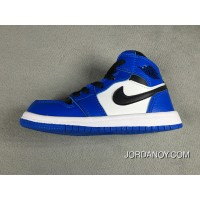 Nike Air Jordan Retro 1 Blue Black White 2018 Discount