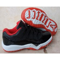 "Lastest Kids Air Jordan 11 Low ""Bred"" 2016 For Sale"