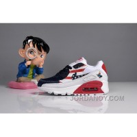 073 MAX 90 Nike Kids Air Max 90 American Flag White Blue Red New Release