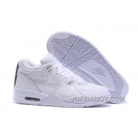 Nike Air Flight '89 White/White-White Shoes For Sale Discount