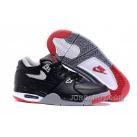 "Nike Air Flight '89 ""Bred"" Black/Cement Grey-Fire Red-White Shoes For Sale Authentic"