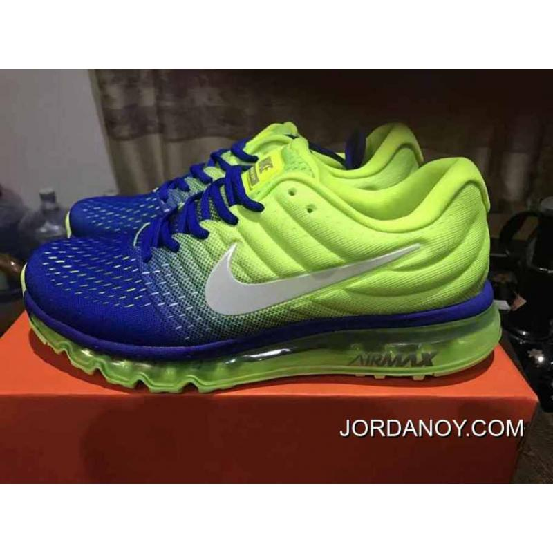 Copuon Deep Blue Grey Nike Air Max 2017 Mesh 2017 Fullpalm As Running Shoes Women Shoes And Men Shoes