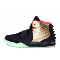 "Online Nike Air Yeezy 2 ""Imperial"" Black Gold Glow In The Dark For Sale"