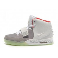 Discount Nike Air Yeezy 2 Wolf Grey/Pure Platinum Glow In The Dark For Sale