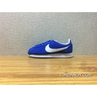 2018 Best 943088 400 Nike Cortez Shoes Blue And White Fur Cortez CLASSIC