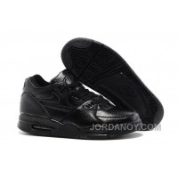 Christmas Deals Nike Air Flight '89 All Black Leather Basketball Shoes For Sale
