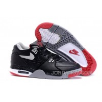"""Hot Now Nike Air Flight '89 """"Bred"""" Black/Cement Grey-Fire Red-White Shoes For Sale"""