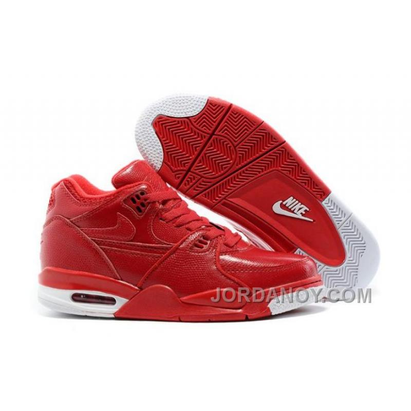 52bf944523fb9e Christmas Deals Nike Air Flight '89 Red Leather Basketball Shoes For ...