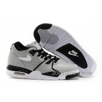 Free Shipping Nike Air Flight '89 Wolf Grey/Black-White Shoes For Sale