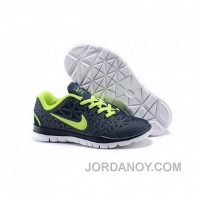 Nike Free TR Fit Kid Navy Green Shoes New Style