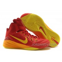 "Nike Hyperdunk 2014 ""Spain"" University Red/University Gold-Team Red Free Shipping"