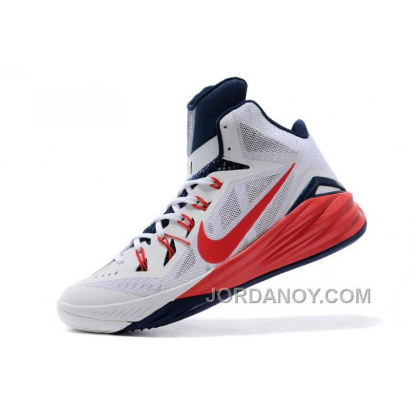 ... Nike Hyperdunk 2014 \u201cUSA\u201d White/University Red-Obsidian For Sale  Lastest ...
