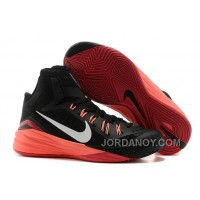 Discount Nike Hyperdunk 2014 Black/Metallic Silver/Hyper Punch For Sale