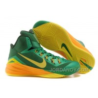 "Free Shipping Nike Hyperdunk 2014 ""Brazil"" Lucky Green/Sonic Yellow-Gorge Green For Sale"
