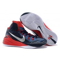 "Christmas Deals Nike Hyperdunk 2014 ""USA Away"" Obsidian/White-University Red For Sale"