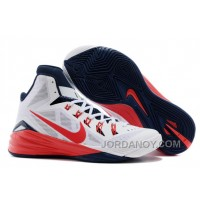 "Lastest Nike Hyperdunk 2014 ""USA"" White/University Red-Obsidian For Sale"