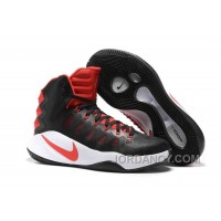 Nike Hyperdunk 2016 Black Red White Christmas Deals