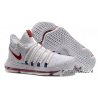 Nike KD 10 White Red Men Shoes Kevin Durant Copuon Code
