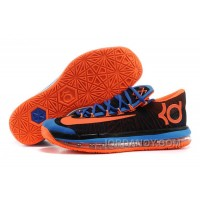 Online Nike KD 6 VI Elite Black/Royal Blue-Team Orange For Sale