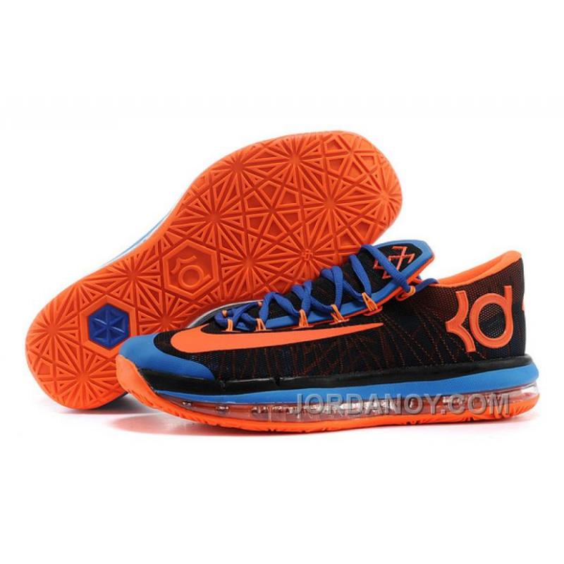 size 40 49bf6 2a4ea USD  85.38  176.25. Online Nike KD 6 VI Elite Black Royal Blue-Team Orange  For Sale ...