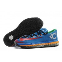 For Sale Nike KD 6 VI Elite Blue Red Yellow Online