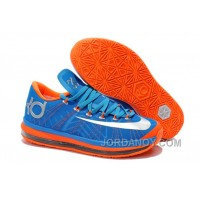 Authentic Nike KD 6 VI Elite Photo Blue/Team Orange-Silver For Sale