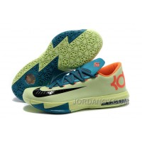 Lastest Nike Kevin Durant KD 6 VI Aqua Green-Orange/Teal-Navy For Sale