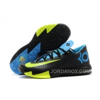 "For Sale Nike Kevin Durant KD 6 VI ""Away II"" Black/Volt-Vivid Blue-Dark Grey"