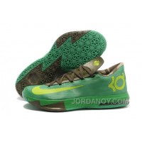 "Discount Nike Kevin Durant KD 6 VI ""Bamboo"" Gamma Green/Flash Lime-Raw Umber-Linen-Deep Smoke"